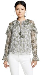 Ramy Brook Printed Celeste Blouse Sage