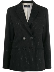 Piazza Sempione Classic Fitted Blazer Black