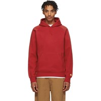 Carhartt Work In Progress Red Chase Hoodie