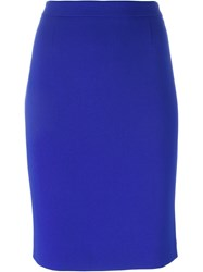 Boutique Moschino Short Pencil Skirt Blue