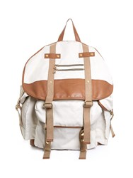 Balmain Canvas And Leather Backpack