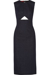 Tamara Mellon Cutout Stretch Denim Dress