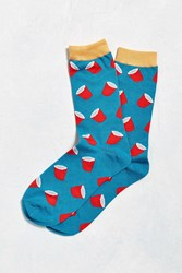 Urban Outfitters Cup Sock Blue