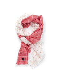 Eden Park Two Tone Stripe Scarf Red