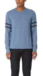 Splendid Mills Graphic Crew Neck Sweatshirt Cashmere Blue