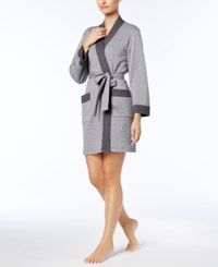 Charter Club Double Knit Robe Created For Macy's Charcoal Heather