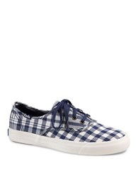 Keds Triumph Gingham Sneakers Navy Blue