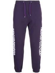 Neighborhood Side Print Track Pants Purple