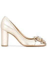 Salvatore Ferragamo Elga High Heel Pumps Metallic