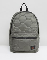 Asos Backpack In Khaki Quilted Design Green
