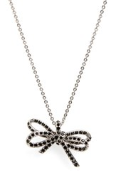 Marc By Marc Jacobs Women's Pave Twisted Bow Pendant Necklace
