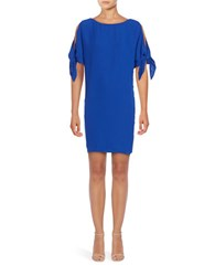 Vince Camuto Knot Accented Shift Dress Royal