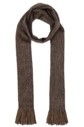 Our Legacy Brushed Scarf In Brown