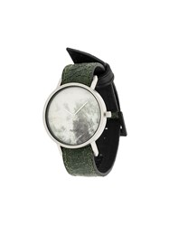 South Lane Avant Invert Watch Stainless Steel Calf Leather Green