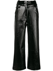 Three Floor High Waisted Flared Trousers Black