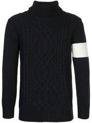 Guild Prime Roll Neck Jumper Acrylic Blue