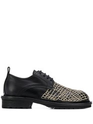 Ann Demeulemeester Web Embroidered Derby Shoes 60