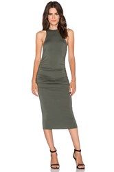 Rachel Pally X Revolve Racerback Ruched Maxi Dress Green