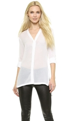 Helmut Lang Swift Button Down Blouse Optic White