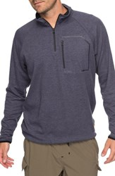 Quiksilver Waterman Collection Technical Sweatshirt Dark Denim Heather