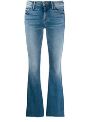 Mother Flared Fitted Jeans Blue