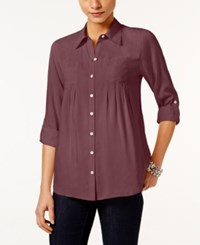 Styleandco. Style Co. Roll Tab Shirt Only At Macy's Pale Raspberry