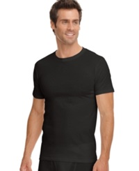 Jockey Men's Classic Collection Crew Neck T Shirt 3 Pack Black