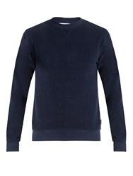 Orlebar Brown Pierce Crew Neck Cotton Sweatshirt Navy