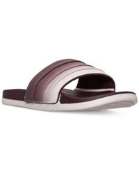 Adidas Women's Adilette Cloud Foam Armad Slide Sandals From Finish Line Maroon Collegiate Navy Ic
