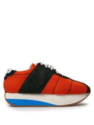 Marni Mesh And Suede Low Top Trainers Orange Multi