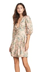 Zimmermann Tempest Lace Up Dress Rouge Desert Rose