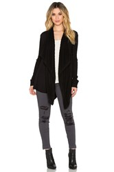 Heather Waterfall Cardigan Black