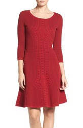 Gabby Skye Women's Fit And Flare Sweater Dress