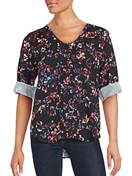 Yumi Kim Floral Print Top Butterfly