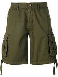 Sun 68 Cargo Shorts Men Cotton 34 Green