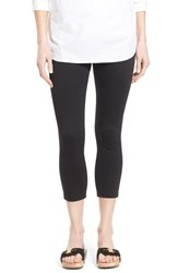 Women's Hue 'Super Smooth' Denim Capri Leggings Black