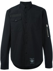 Fred Perry X Art Comes First Pocket Detail Oxford Shirt Black