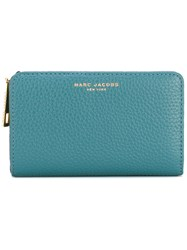 Marc Jacobs Gotham Compact Wallet Women Calf Leather One Size Blue