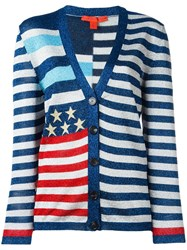 Hilfiger Collection Striped Cardigan Blue