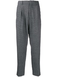 Ann Demeulemeester Tailored Houndstooth Trousers Grey