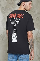 Forever 21 Saved Souls Graphic Tour Tee Black White