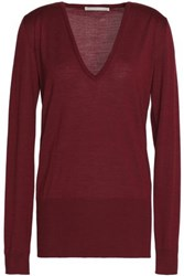 Antonio Berardi Merino Wool And Silk Blend Sweater Merlot