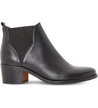 Dune Parnell Leather Chelsea Ankle Boots Black Leather