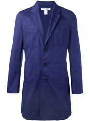 Comme Des Garcons Shirt Boys Long Blazer Blue