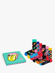 Happy Socks Rolling Stones Gift Box One Size Pack Of 6 Multi