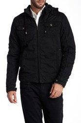 X Ray Padded Hooded Jacket Black