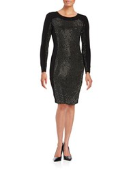Calvin Klein Embellished Sheath Dress Hematite