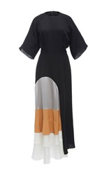 Roksanda Ilincic Rauma Colorblock Dress Black