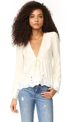 Stone_Cold_Fox Stone Cold Fox Garnet Blouse Ivory