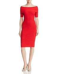 Michael Michael Kors Off The Shoulder Ribbed Sweater Dress 100 Bloomingdale's Exclusive True Red